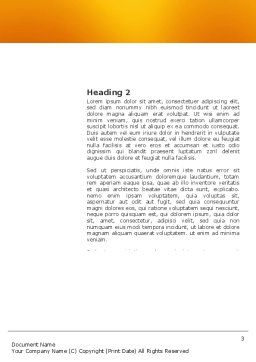 Cerebral Hemispheres Word Template, Second Inner Page, 03840, Consulting — PoweredTemplate.com