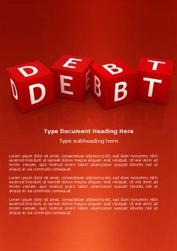Debt Word Template, Cover Page, 03841, Financial/Accounting — PoweredTemplate.com