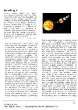 Planet Parade Word Template, First Inner Page, 03842, Nature & Environment — PoweredTemplate.com