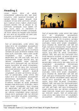 Street Basketball Word Template, First Inner Page, 03843, Sports — PoweredTemplate.com