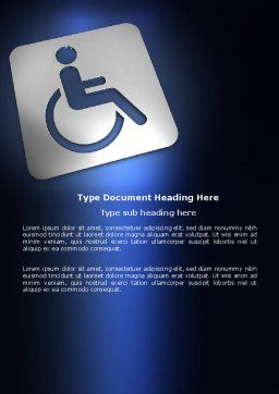 Disabled Person Word Template, Cover Page, 03845, Medical — PoweredTemplate.com