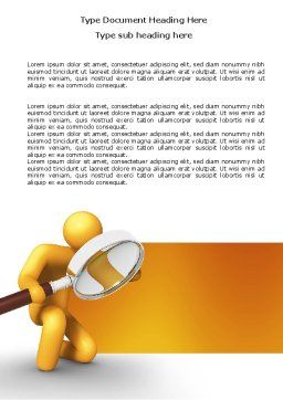 Particulars Word Template, Cover Page, 03847, 3D — PoweredTemplate.com