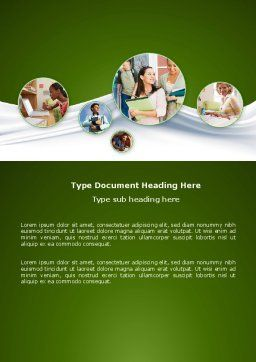 Hard Learning Word Template, Cover Page, 03854, Education & Training — PoweredTemplate.com