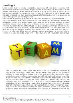 Team Word Template, First Inner Page, 03855, Business Concepts — PoweredTemplate.com