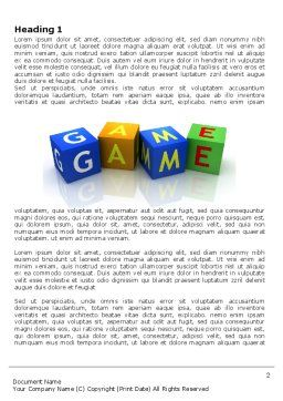 Game Word Template First Inner Page