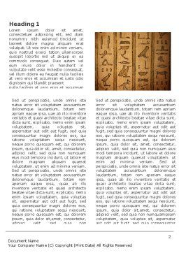 Egyptian Hieroglyphs Word Template First Inner Page