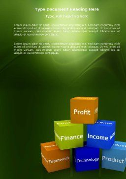 Marketing Research Word Template, Cover Page, 03865, Business — PoweredTemplate.com