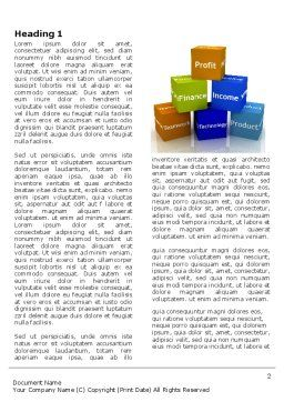 Marketing Research Word Template, First Inner Page, 03865, Business — PoweredTemplate.com