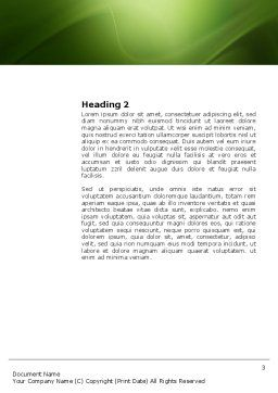 Marketing Research Word Template, Second Inner Page, 03865, Business — PoweredTemplate.com
