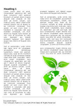 Green Planet Word Template First Inner Page