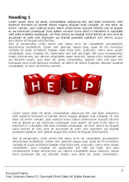 Help Cubes Word Template, First Inner Page, 03869, Business Concepts — PoweredTemplate.com