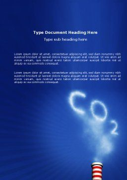 Carbonic Gas Word Template, Cover Page, 03874, Nature & Environment — PoweredTemplate.com