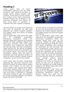 e-Shopping Cart Word Template, First Inner Page, 03878, Business — PoweredTemplate.com