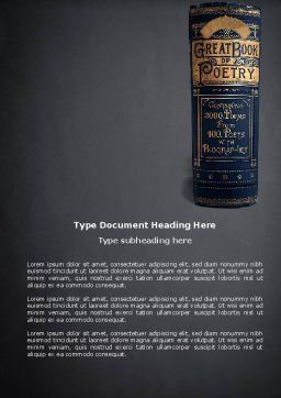 Book of Poetry Word Template, Cover Page, 03879, Education & Training — PoweredTemplate.com