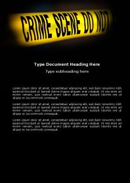 Crime Scene Word Template, Cover Page, 03883, Military — PoweredTemplate.com