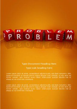 Problem Word Template Cover Page