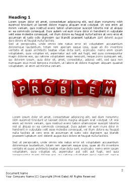 Problem Word Template, First Inner Page, 03887, Education & Training — PoweredTemplate.com