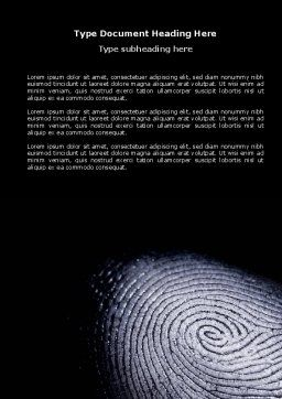 Fingerprint Word Template, Cover Page, 03890, People — PoweredTemplate.com