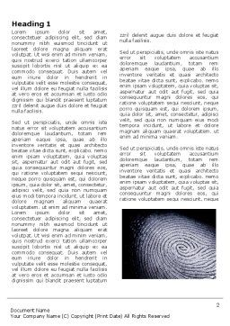 Fingerprint Word Template, First Inner Page, 03890, People — PoweredTemplate.com