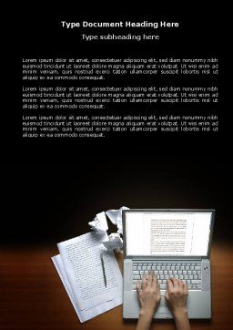 Proofreading Word Template, Cover Page, 03891, Technology, Science & Computers — PoweredTemplate.com