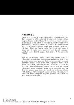 Proofreading Word Template, Second Inner Page, 03891, Technology, Science & Computers — PoweredTemplate.com