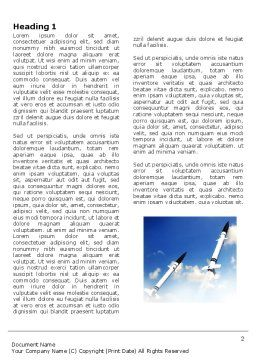 Missiles Word Template, First Inner Page, 03894, Military — PoweredTemplate.com