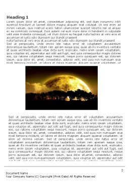 Yellow Moon Word Template, First Inner Page, 03895, Nature & Environment — PoweredTemplate.com