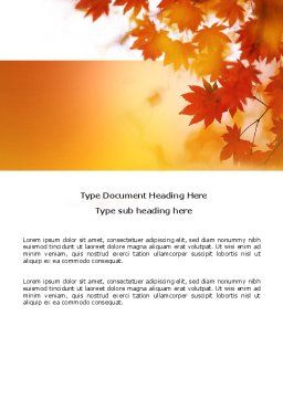 Autumn Season Word Template, Cover Page, 03898, Nature & Environment — PoweredTemplate.com