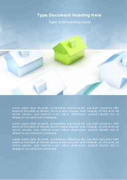 Living Area Zoning Word Template, Cover Page, 03902, Construction — PoweredTemplate.com