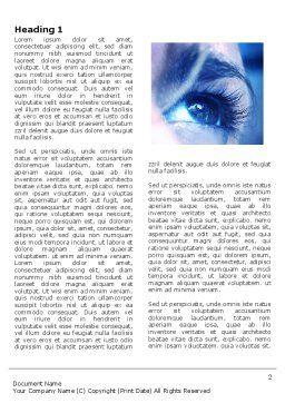 Digital Era Word Template, First Inner Page, 03905, People — PoweredTemplate.com