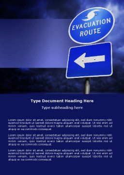 Evacuation Route Word Template Cover Page