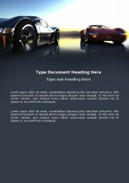 Concept Cars Word Template, Cover Page, 03909, Cars/Transportation — PoweredTemplate.com