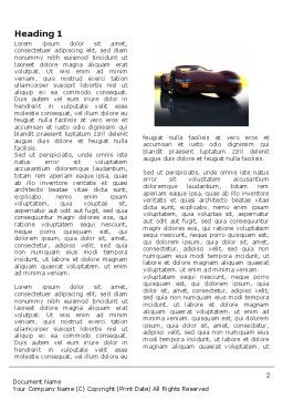 Concept Cars Word Template, First Inner Page, 03909, Cars/Transportation — PoweredTemplate.com