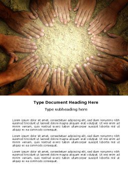 Unity Hands Touching Ground Word Template, Cover Page, 03911, Religious/Spiritual — PoweredTemplate.com