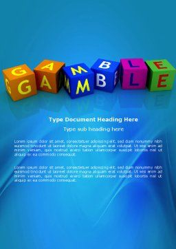 Gamble Word Template Cover Page
