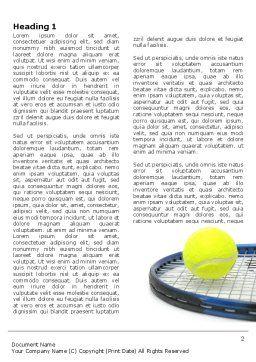 Tennis Ball Word Template, First Inner Page, 03918, Sports — PoweredTemplate.com
