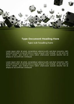 Dice In Game Word Template, Cover Page, 03923, Business — PoweredTemplate.com