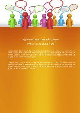 Talk Word Template, Cover Page, 03925, Consulting — PoweredTemplate.com