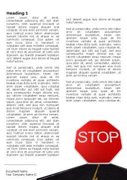 Stop Sign Word Template, First Inner Page, 03928, Cars/Transportation — PoweredTemplate.com