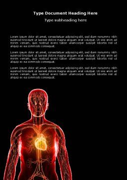 Blood Vascular System Word Template, Cover Page, 03930, Medical — PoweredTemplate.com