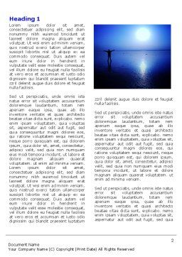 Blue Sunset Word Template First Inner Page