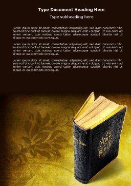 Christian Bible Word Template, Cover Page, 03936, Religious/Spiritual — PoweredTemplate.com