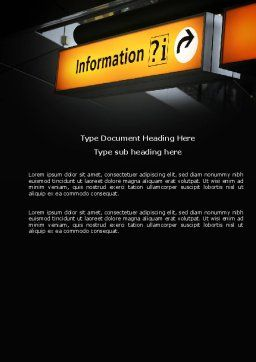 Information Bureau Word Template, Cover Page, 03942, Consulting — PoweredTemplate.com