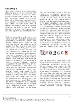 Biology Class Word Template, First Inner Page, 03951, Education & Training — PoweredTemplate.com