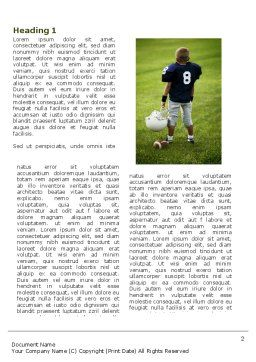 American Football in School Word Template, First Inner Page, 03952, Sports — PoweredTemplate.com