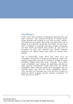 Scientific Breakthrough Word Template Second Inner Page