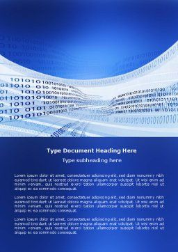 Coding Strip Word Template, Cover Page, 03955, Technology, Science & Computers — PoweredTemplate.com