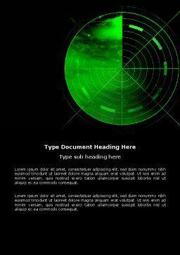 Radar Word Template, Cover Page, 03963, Military — PoweredTemplate.com