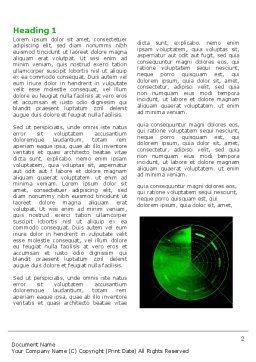 Radar Word Template, First Inner Page, 03963, Military — PoweredTemplate.com