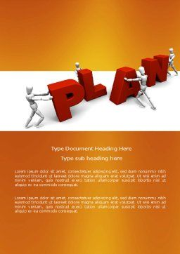 Plan Word Template, Cover Page, 03966, Consulting — PoweredTemplate.com